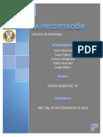 LA PRECIPITACION Informe Corregir