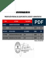 Actos Protocolares Año 2019 (Terno)
