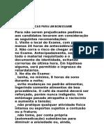 DICAS PARA UMA BOA PROVA.doc