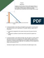 Physics Ladder Problem