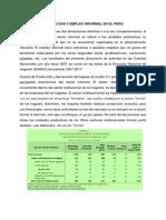 Producción y Empleo Informal en El Perú111