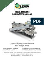 Manual de usuario de maquina tortilladora
