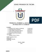 Persona Jurídica, Asociación, Fundación y Comité