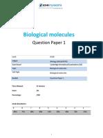 Fawziya Khalisa - Biological Molecules & Food Test Assignments