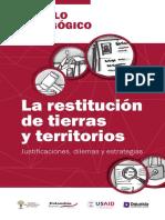 Modulo Pedagogico La Restitucion de Tierras PDF ParaWEB