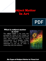 Subject and Content in Art