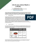 Informe Antena Dipolo UCSP
