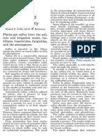 Sulfur and Soil Fertility