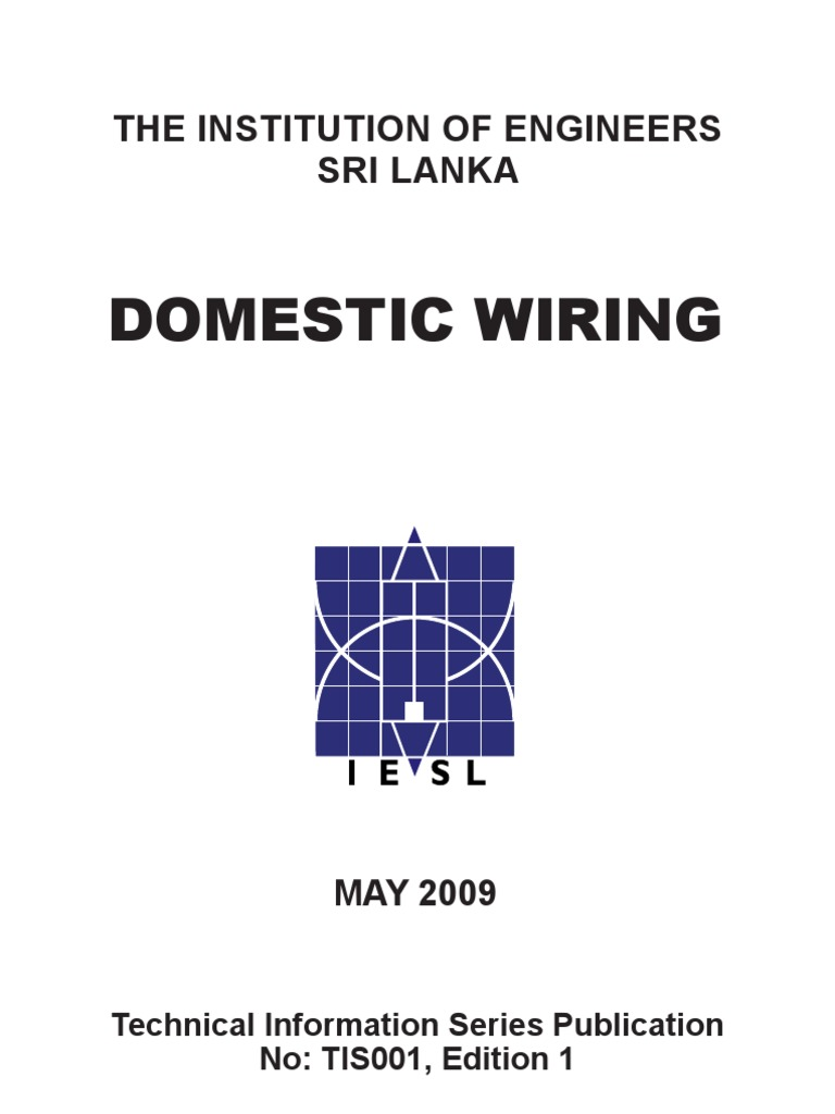 Booklet on Domestic Wiring   Electric Current   Fuse (Electrical)Scribd