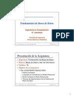0-PresentacionCurso Base de Datos