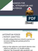 NCM 107 Lecture - Nursing Diagnosis - Maternal (Midterm)