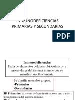 11. Inmunodeficiencia Primarias y Secundarias