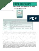 PSIPE 11 Evaluacion Comportamiento Matematico ECM BENTON LURIA