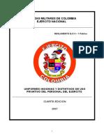 Uniformes, Insignias y Distintivos de Uso Privativo Del Personal d
