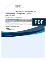 Australian Regulatory Guidelines for Advertising Therapeutic Goods (ARGATG) V2.1 Nov 2018
