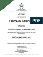 Certificado Gobierno Local