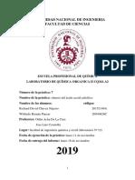 Informe 7 Quimica Organica 2