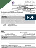 School Form 10 SF10-SHS Senior High School Student Permanent Record (1)