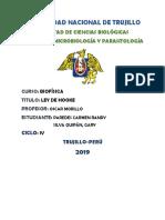 Biofisica Ley de Hooke