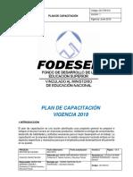 Plan Anual de Capacitaciones 2019