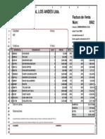 Factura Excel Ejercicio Estudiantes 2019