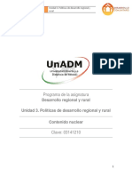 Unidad 3. Politicas de Desarrollo Regional y Rural_Contenido Nuclear