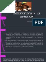 Introduccion a La Nutricion