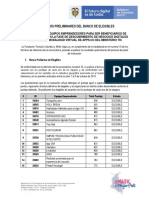 Banco de Elegibles Preliminar Virtual Vf
