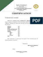 Certificate of Enrollment