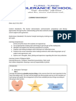 Learning Plan in English