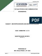 Lesson Plan Microprocessor and Micro COntroller