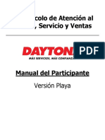 Protocolo Atencion Venta Playa