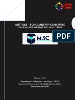 MITI KM – Scholarship Coaching Mentor and Fasilitator