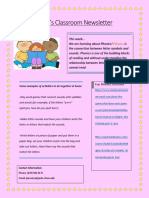 phonics newsletter weebly