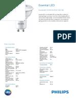 ODLI20161010_087 UPD Es_AR Essential LED 3.5 35W GU10 827 Ficha Técnica