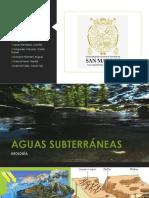PPT GEOLOGÍA- Aguas Subterráneas
