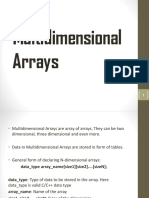 Multidimensional Arrays Ajay