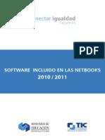 Software incluido netbooks Conectar Igualdad