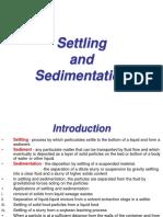 Settling and sedimentation