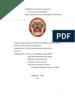 Informe de Cultivos Maní y Cebolla China
