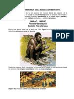 1. Evolución Histórica de La Evaluación Educativa