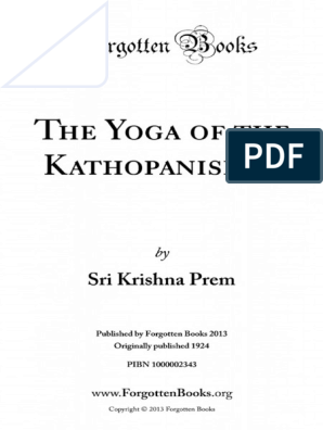 The Yoga Of The Kathopanishad 1000002343 1 Atman Hinduism Indian Religions
