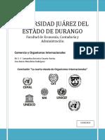 """Conclusión """"La Cuarta Oleada de Organismos Internacionales"""""""