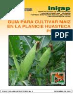 Guía para cultivar maíz en la plancie Huasteca