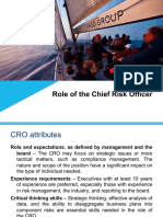 CRO Role and Attributes