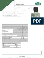 Regulador Presion Numatics Serie 651-652