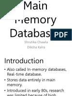 Main Memory Databases