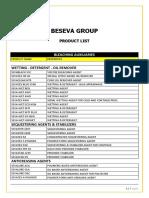 Beseva - Product List-1