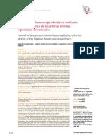 Control de La Hemorragia Obstétrica Mediante La Ligadura Selectiva de Arterias Uterinas