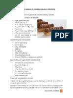 1.- Éclair Con Ganache de Caramelo Salado y Chocolate